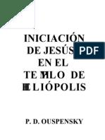 La iniciación de Jesús en el templo de Heliópolis (Ouspensky)