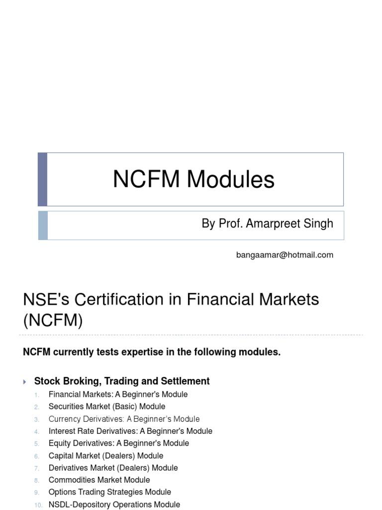 Nse option trading strategies module