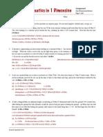 1D Kinematics Prob Solutions