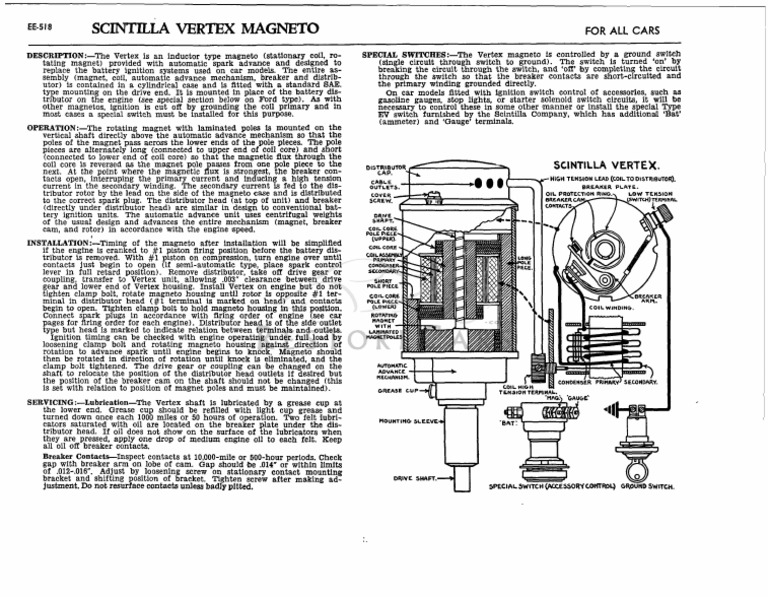 Scintila Vertex Magneto   Distributor   Ignition System on
