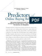 Predictors of Online Buying Behavior