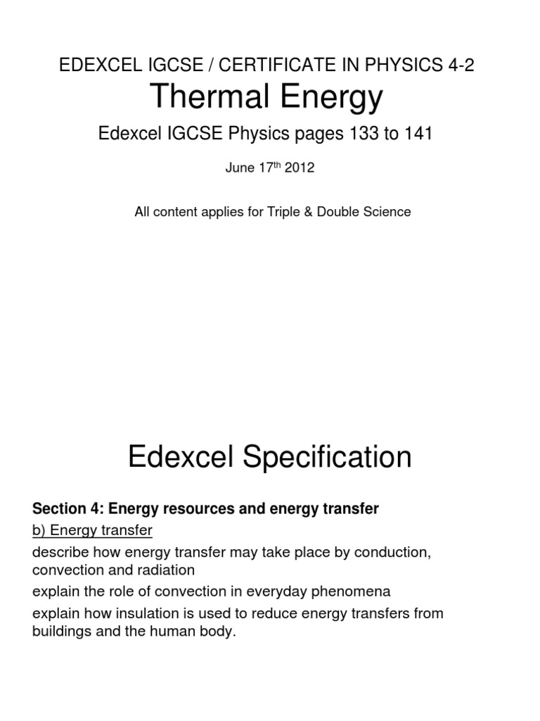 igcse-42-thermalenergy | Heat Transfer | Thermal Conduction