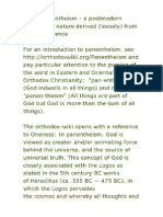 A Look at Panentheism From a Semiotic Vantage Point