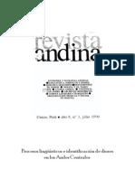 Procesos lingüísticos e identificación de dioses en los Andes Centrales