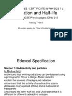 Igcse 72 Radiation&Halflife