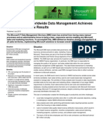 Standardizing Worldwide Data Management Achieves Positive Business Results