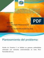 Niveles de Vitamina c en Bebidas No Gaseosas