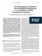 Proposal and Performance Evaluation of an Efficient RZ-DQPSK Modulation Scheme in All-Optical OFDM Transmission Systems