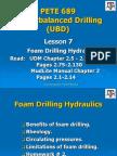 Lesson 7 Foam Drilling Hydraulics-3