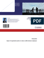 """E-book """"Impact of organization justice to reduce conflict between employees"""""""