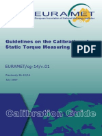 EURAMET-Cg-14.01 Static Torque Measuring Devices