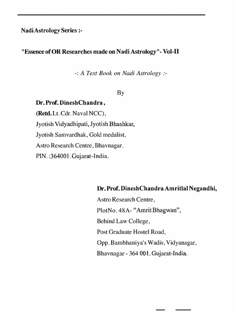 190042080 Researches On Nadi Vol 2 By Dr Prof Dinesh Chandra Tone Controls Are A Royal Pita As You Have Found Insertion Losses Planets In Astrology Horoscope