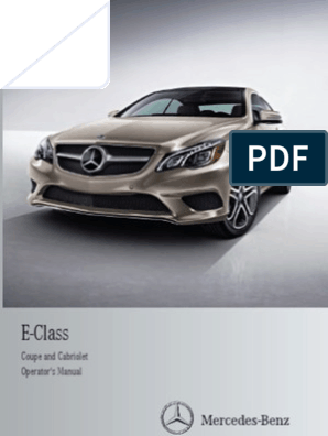 2014 Mercedes Benz E Class Coupe, Cabriolet Owner's Manual