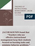 MCR Theoris Kounin Assignment