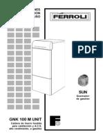 Manual Caldera Ferroli GNK M UNIT