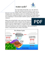 water cycle informational text