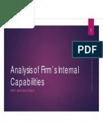 Analysis of Firm's Internal Capabilities