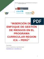 Program Curricular Con Gestion de Riesgo - Ica Marzo 2010