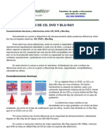 Caracteristicas CD Dvd Br