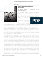 Revista Observaciones Filosóficas - Actitud del Artista