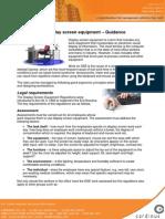 Display Screen Equipment Guidance
