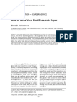 How to Write Your First Research Paper (Version1)