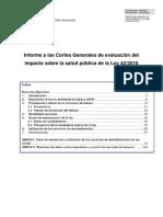 Informe Impacto Salud Ley Tabaco