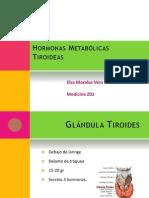 Hormonas Metabolicas Tiroideas Elsa Morales Vera