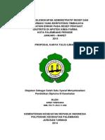 Kelengkapan Administratif Resep dan Polifarmasi Yang Berpotensi ME pada Resep Penyakit Gastritis