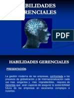 HABILIDADES GERENCIALES - PRESENTACIÓN DEL CURSO