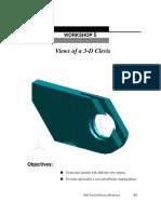 Lesson05 Views of a 3D Clevis