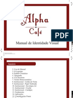 Alpha Café - Manual de Identidade