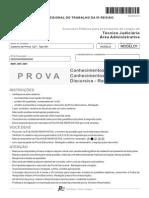 Fcc 2013 Trt 5 Regiao Ba Tecnico Judiciario Area Administrativa Prova