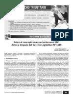 RAMOS ANGELES, Jesús y AGÜERO HERRERA, Alejandra - El concepto de exportación en el IGV y el DL 1119.pdf