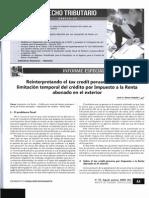 RAMOS ANGELES, Jesús -  Reinterpretando el tax credit peruano por IR abonado en el exterior - Scaneado.pdf