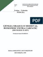 Traian Valentin Orasul Medieval Romanesc