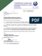 Surat Program Mencari Bakat Balapan & Padang