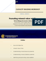 Promoting Mineral Value Addition - Issues for Considerations