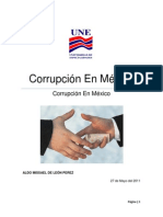 Investigacion de La Corrupcion en Mexico