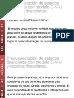 Presupuestacion Edos Fin CVU y Razones