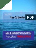 Islas continentales. Áreas de nidificación de aves marinas, amenazadas por Termoeléctricas