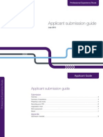 Professional Experience Route Applicant Submission Guide July 13