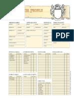 Harnmaster Character Sheet