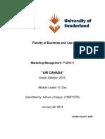 Marketing Management- AIR CANADA Haque, A. U