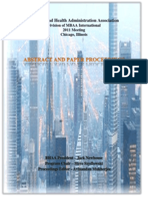 2011 BHAA Proceedings | Preventive Healthcare | Public Health
