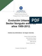 Evolucuion Urbana Nonguen 1950-2012