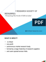 The Market Research Society of India(MRSI)