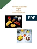 Alimentos Que Contienen Potasio y Fosforo Para Dializados