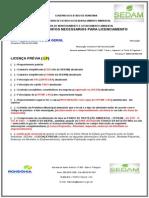 Cheque list licença ambiental