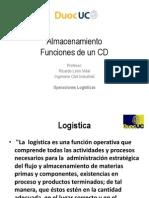 1 Administrar Centros de Distribución - Funciones centro de distribución